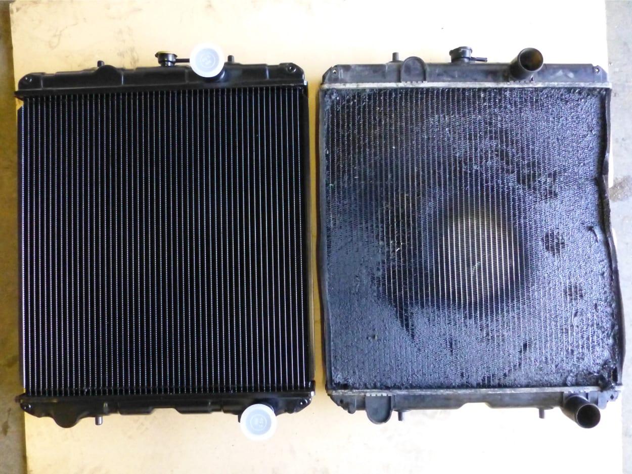 Genset Radiators New Copper and Brass Unit Old Aluminium Unit