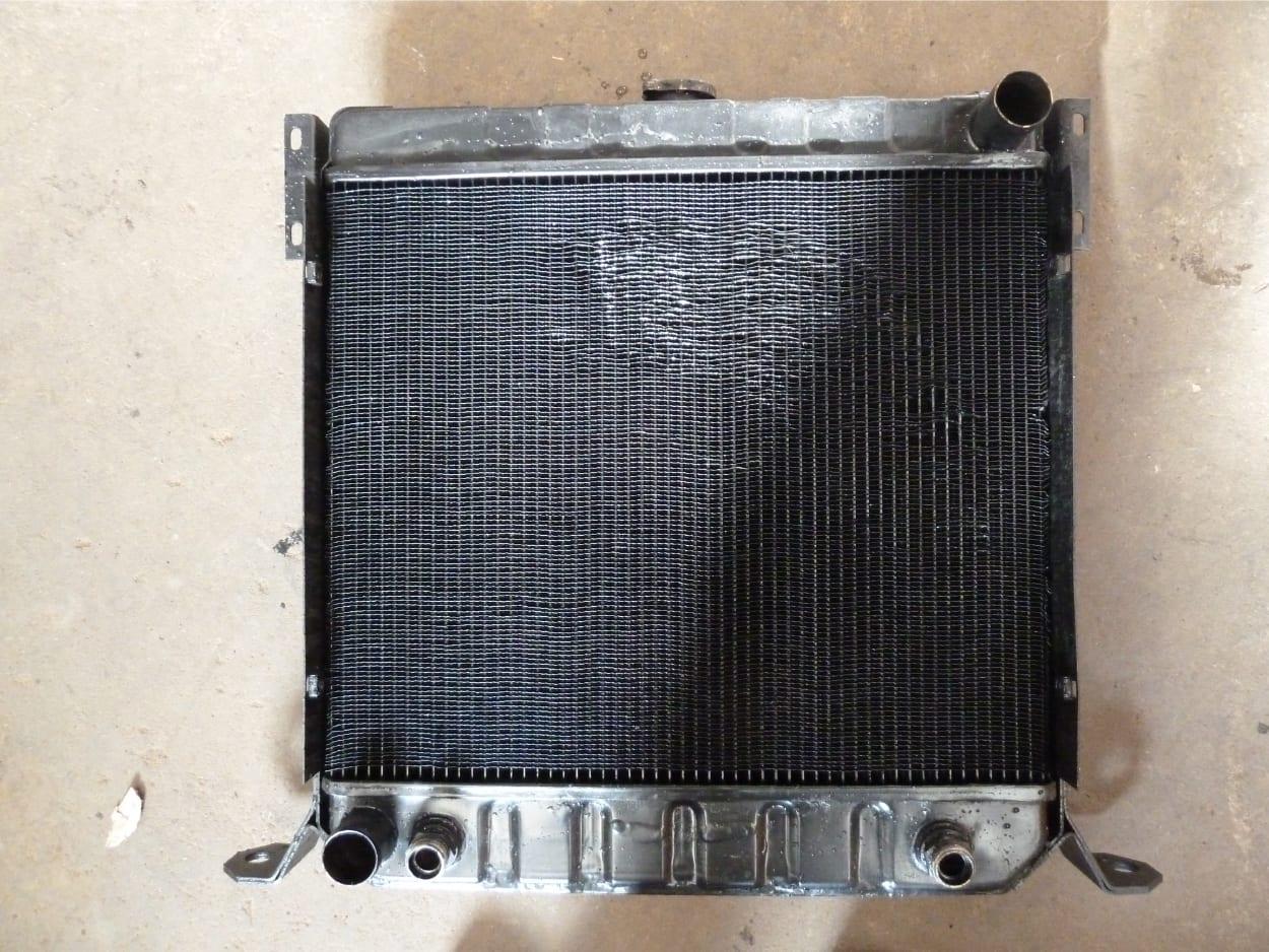 Manitou Radiator Repair to Filler Neck and Tidy Fins Barnstaple Devon