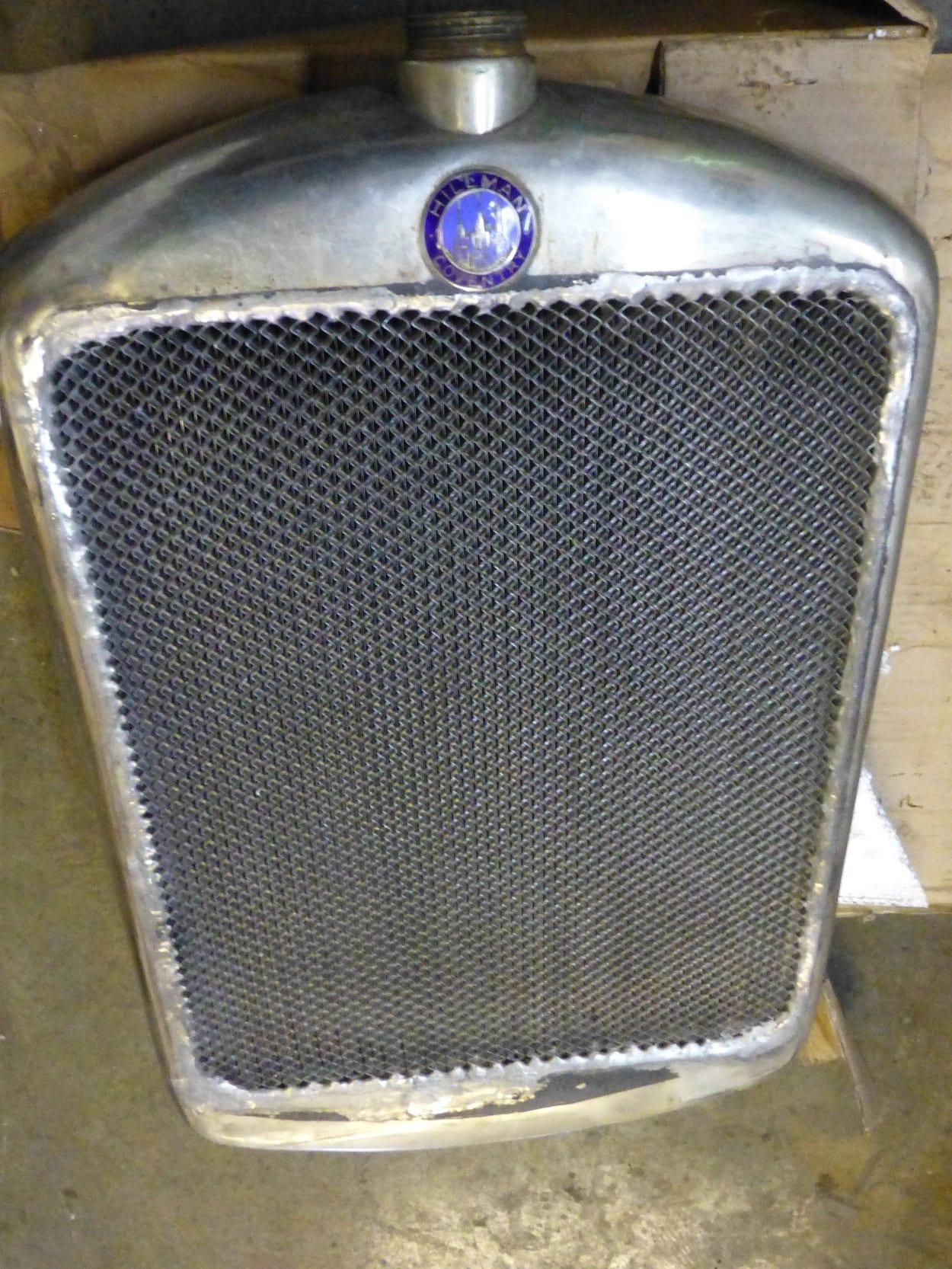 Hillman 14 Radiator Recored with New Original Core Bude Cornwall