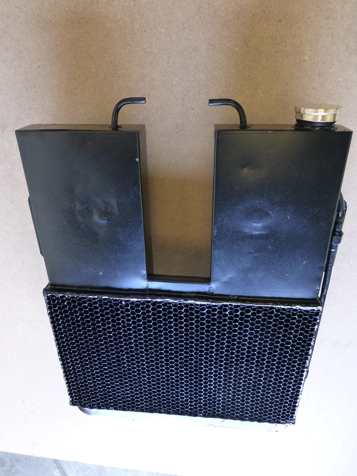 Stevens 3 Wheel Van Radiator Modern Core faced with Original Honeycomb Exeter