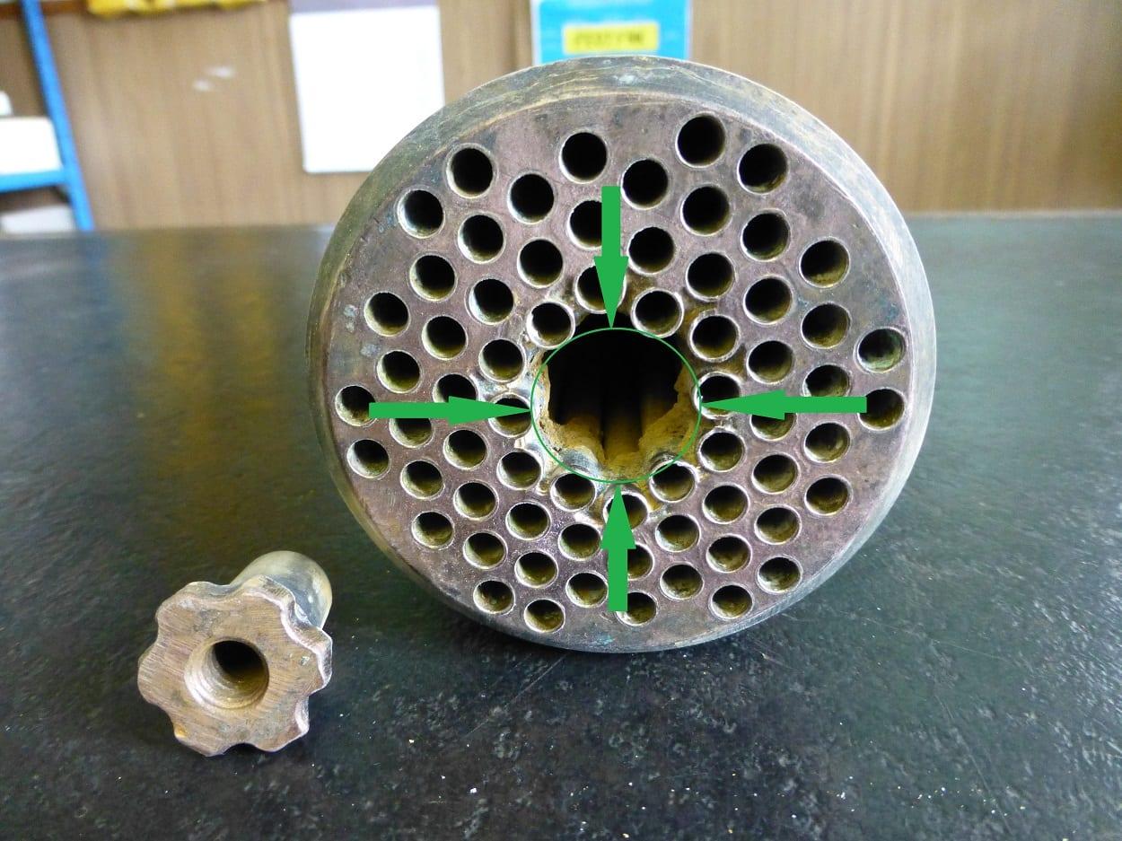 Tube Stack in Need of Repair