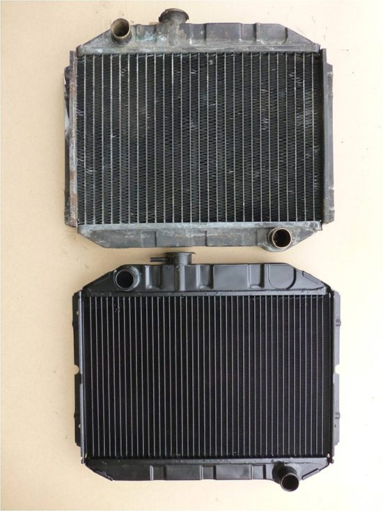 Ford Escort Mk1 Radiator Old and Upgraded Core Bideford Devon